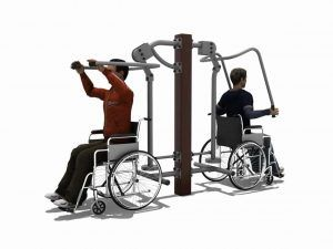 Lat Pull Down & Chest Press BLH-1512 équipement fitness pmr