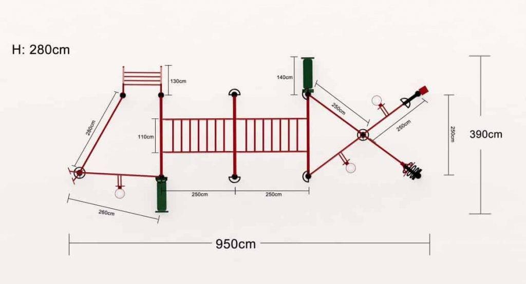 Cage Cross-Training Extérieure Maxcomb